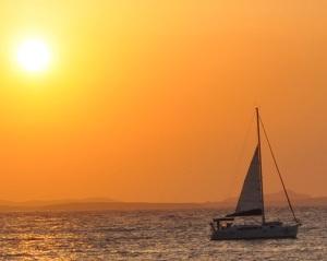 Ηλιοβασίλεμα στη Νάξο του Γ. Καρακατσάνη